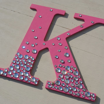 Hot Pink Bling Sparkle Wall Letters