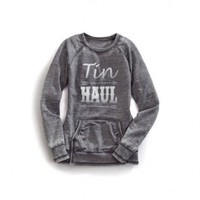 Tin Haul Grey Crushed Pullover