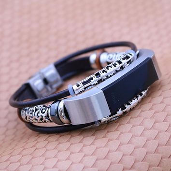 For Fitbit Alta/Alta HR Bracelet Wristband Replacement Leather Watchband Wrist Band Strap Correas de reloj