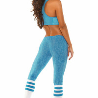 Bombshell Sportswear - Knock Your Socks Off | Designer Leggings - Turquoise