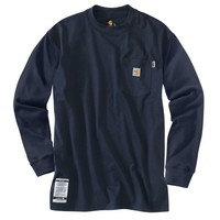Flame-Resistant Work-Dry Cotton Long Sleeve T-Shirt | CAR-100235 | Work Shirts | WorkwearUSA