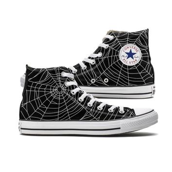 Spider Web Converse Black High Top