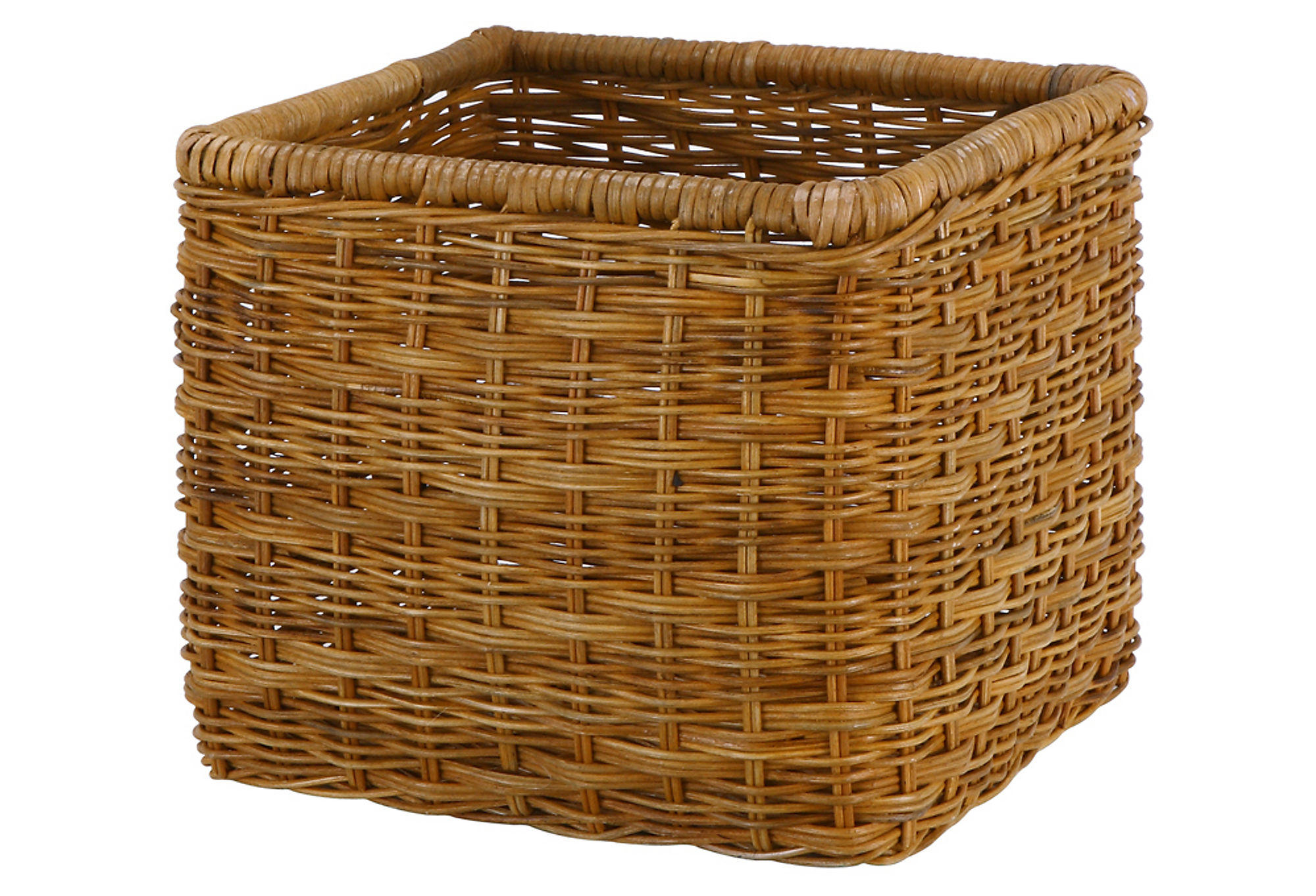 Wicker Basket Storage Cube : Wicker storage cube large from one kings lane