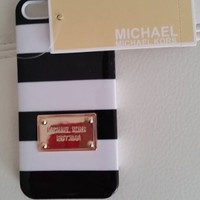 Michael Kors MK Black White Stripe iPhone 5, 5S Case cover, New in Box w/Tags