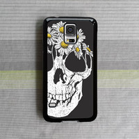 samsung galaxy s5 case , samsung galaxy s4 case , samsung galaxy note 3 case , samsung galaxy s4 mini case , Flower Skull