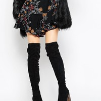 Truffle Collection Trina Platform Over The Knee Boots