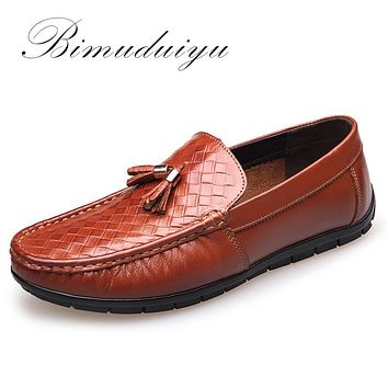 Luxury Genuine Leather Men Casual Driving Shoes Breathable Soft Moccasins Loafers Flat Shoes Men