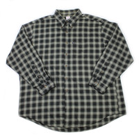 Brooks Brothers Black/Gray Plaid Cotton Button Down Shirt Mens Size XXL