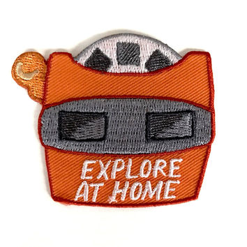 Explore At Home Iron-On Patch