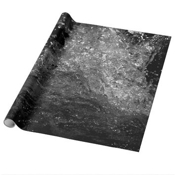 Splash In Black And White Wrapping Paper