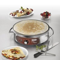 Commercial WSC160 Heavy-Duty Commercial Electric Crepe Maker, 16-Inch
