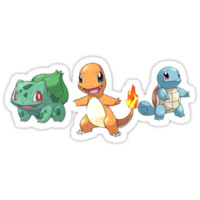 Starter Pokemon - Bulbasaur, Squirtle, Charmander