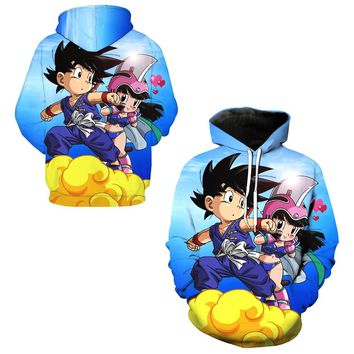 Child Son Goku 3d Print Men Sweatshirts Exercise Hooded Tops Dragon Ball Z Skateboarding Hoodies Compression Hoody Tracksuits