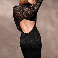 Open-Back Lace Dress