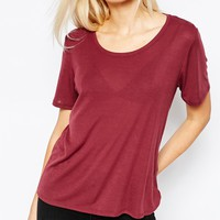 Monki Short Sleeve T-Shirt at asos.com