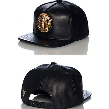 METAL GOLD PHARAOH SNAPBACK CAP - Black - HATER