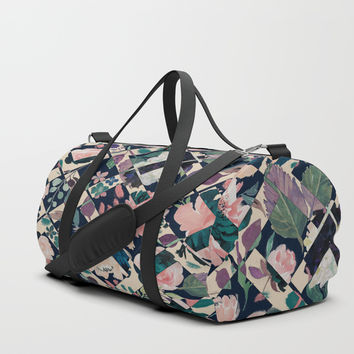 Floral Opposites Duffle Bag by Enframe Photography