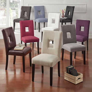 Mendoza Keyhole Back Dining Chairs by Inspire Q (Set of 2)