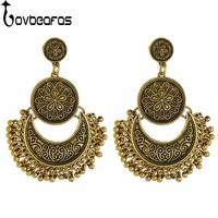 LOVBEAFAS 2017 Fashion Bohemian Drop Tassel Earrings For Women Fine Jewelry Vintage Ethnic Gypsy Carven Drop Boho Earrings