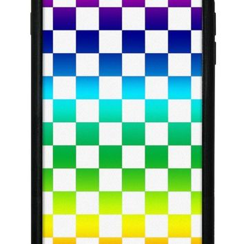 Rainbow Checkers iPhone 6/7/8 Plus Case
