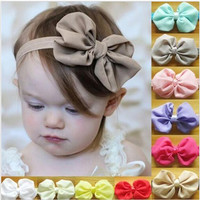 1pc Fashion Cute Kids Baby Girls Headband Toddler Infant Bowknot Headbands Bows Band Hair Accessories BB-265