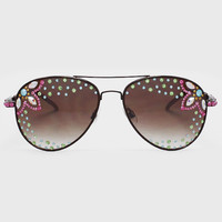 Crystal Lilly Sunglasses