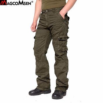 MAGCOMSEN Pants Men 2017 Cotton Loose Cargo Pants Men Military Style Army Tactical Pants Casual Trousers Size 29-40 AG-BDC-02