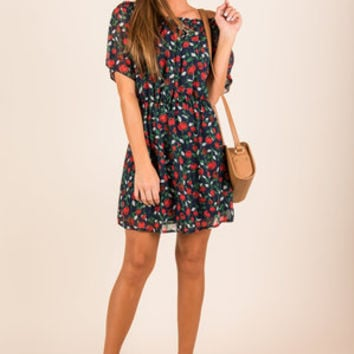 Will You Accept This Rose Dress, Navy