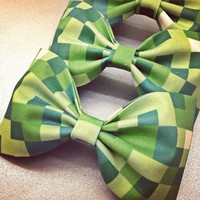 Minecraft handmade fabric bow tie or hair bow