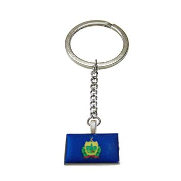 Vermont State Flag Pendant Keychain
