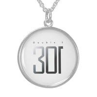 Double s 301 round pendant necklace