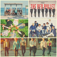 BTS Retro Photo Wall Posters