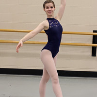 High-neck Leotard