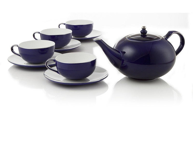 Royal sapphire bone china tea set at from - Teavana teapot ...