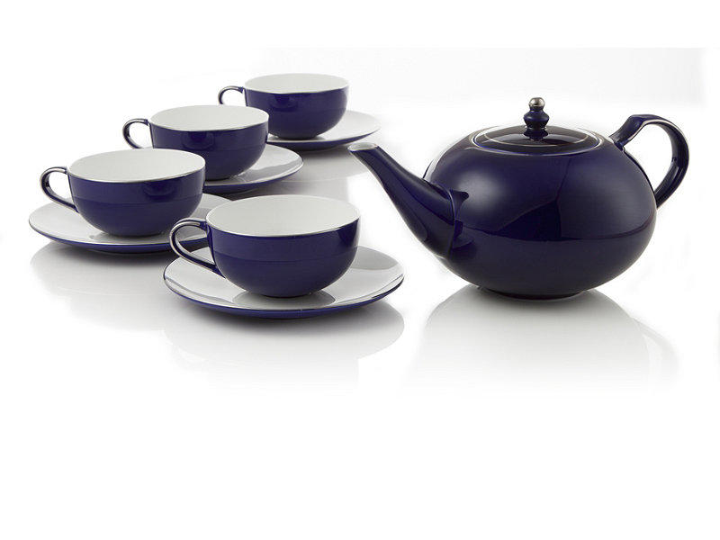 Royal sapphire bone china tea set at from - Teavana teapots ...