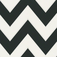 Chevron Wallpaper in Black and White design by BD Wall