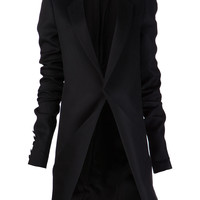 Fold Over Coat in Black