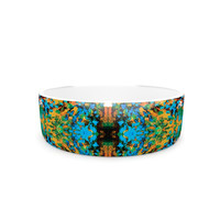 "Nikposium ""Summer Breeze"" Blue Teal Pet Bowl"