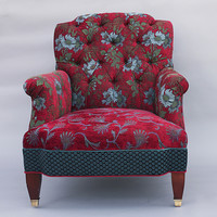 Chelsea Chair in Red Wine by Mary Lynn OShea: Upholstered Chair | Artful Home