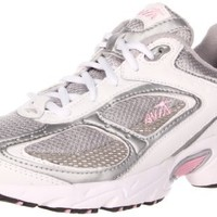 AVIA Women's A5020W Running Shoe,White/Chrome Silver/Cameo Pink,7 M US
