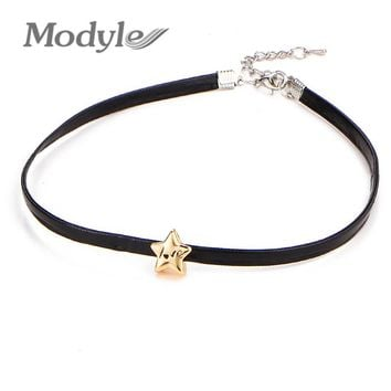 Modyle New Fashon Women Choker Necklace for Halloween Red Blood Bottle Pendant Necklace for Women