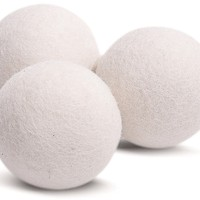 Wool Dryer Balls 3 Pack XL Made of 100% Organic Wool, Reusable Fabric Softener