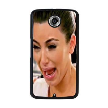 kim kardashian ugly crying face nexus 6 case cover  number 1