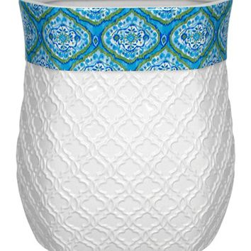 Dena Home 'Tangiers' Wastebasket - Blue/green
