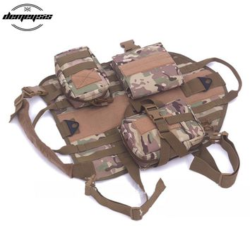 Walking Hiking Hunting Tactical Military Pet Vest Harness Nylon Dog Vest Outdoor Military Training for Pets