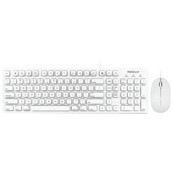 Macally 103-key Full-size Usb Keyboard With Shortcut Keys & 3-button Usb Optical Mouse Combo For Mac