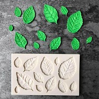 Leaves Shaped 3D Silicone Press Mold