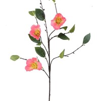 """Salmon Pink Camellia Artificial Flower - 38"""" Tall"""