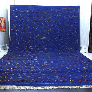 Oversized Large Blue moroccan rug 12x19