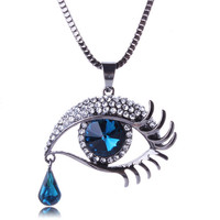 Casual Angel Tear Long Necklace